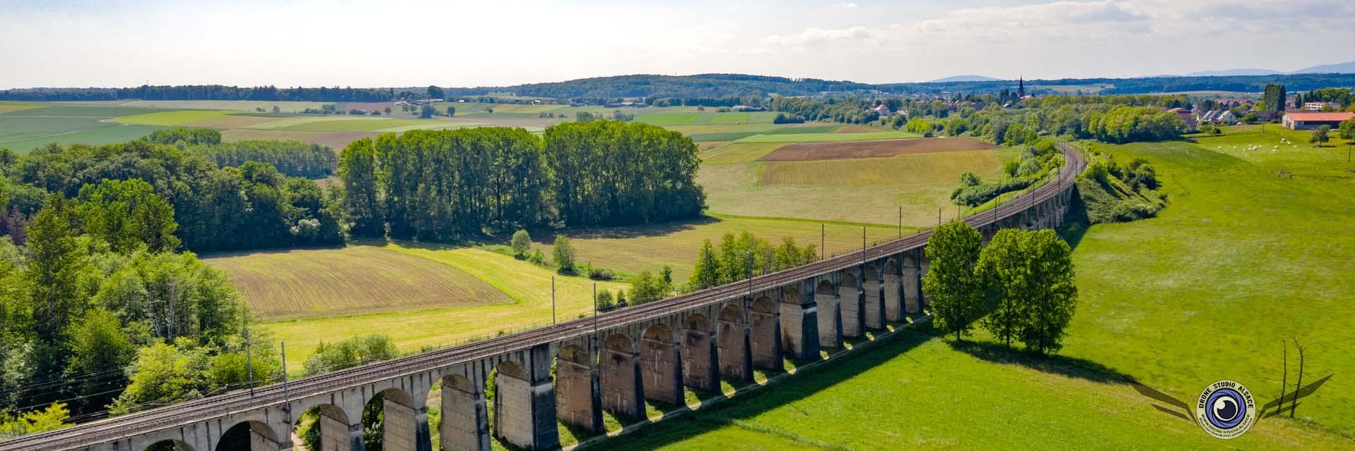 Photo et video par drone alsace mulhouse cernay colmar viaduc dannemarie