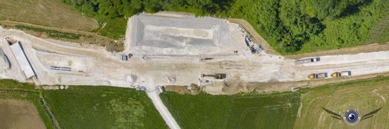Photo et video par drone alsace sundgau BTP chantier Avantages de l'utilisation de drone pour le BTP et agriculture en Alsace
