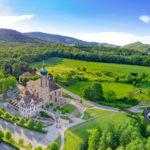 Méandres de l'Ill dans le Sundgau vue depuis un drone