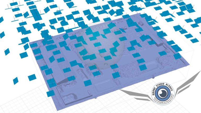 Drone BTP agriculture Alsace photogrammetrie modele 3D
