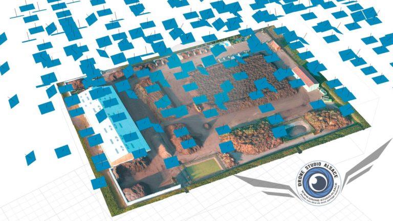 Drone BTP agriculture Alsace photogrammetrie modele 3D texturé