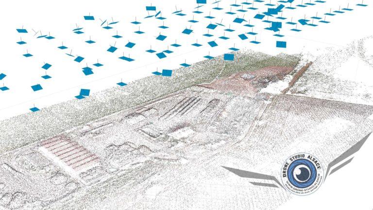 Drone BTP agriculture Alsace photogrammetrie 3D nuage de points
