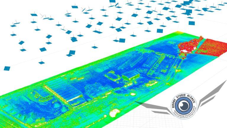 Drone BTP agriculture Alsace photogrammetrie 3D nuage de points par confiance