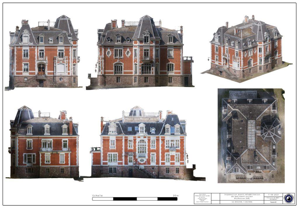 Drone studio alsace orthoplan de façade